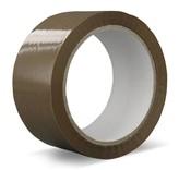 Euro-Label 1 doos van 36 rollen verpakkingstape PVC   Solvent (bruin)