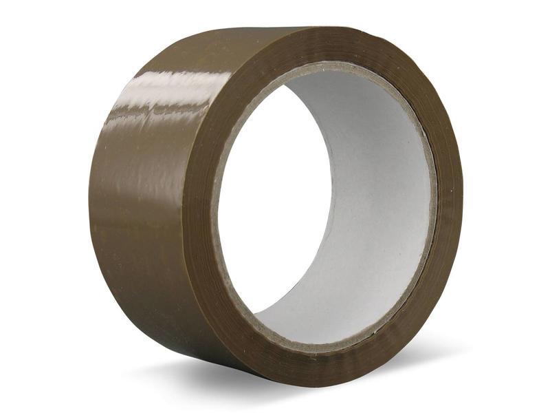36 rollen verpakkingstape PVC | Solvent (bruin)