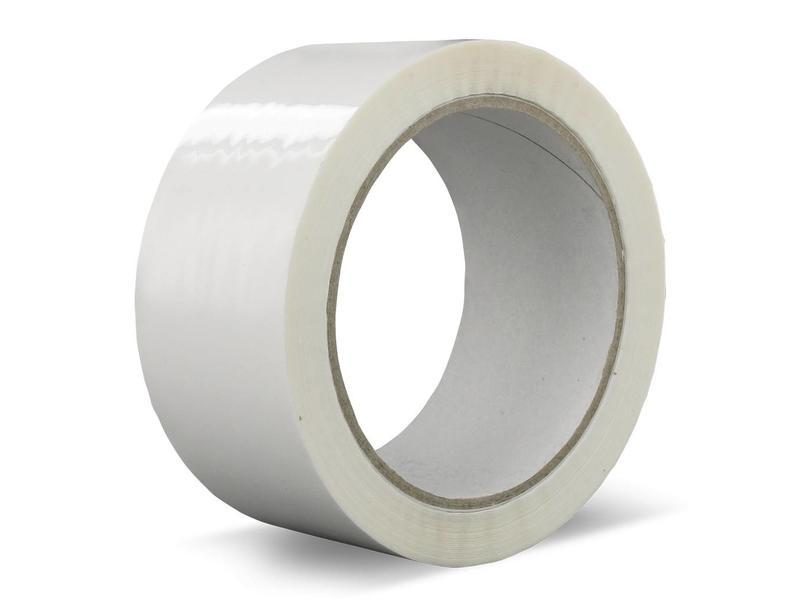 Euro-Label 1 Doos van 36 rollen verpakkingstape PVC | Solvent (Wit)
