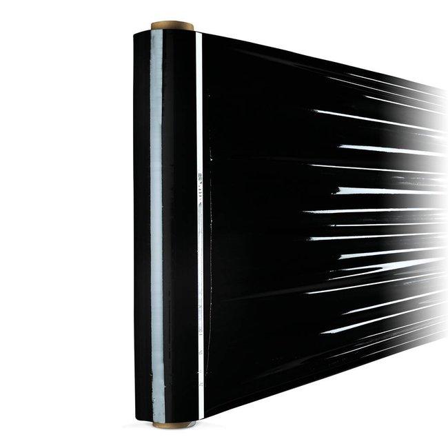 Euro-Label 6 rollen zwarte Stretchfolie (50cm x 300meter x 23µ)