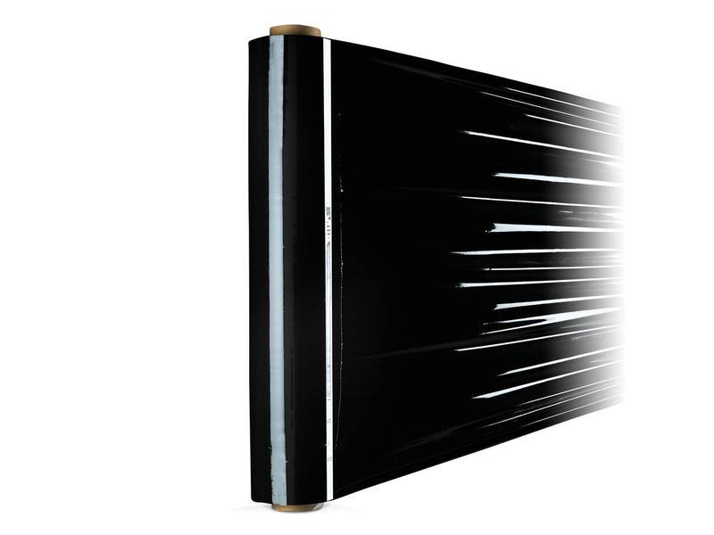 6 rollen zwarte Stretchfolie (50cm x 300meter x 23µ)