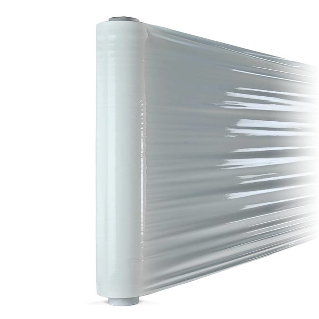 Euro-Label 6 rollen witte stretchfolie (50cm X  300 meter  X  23µ)