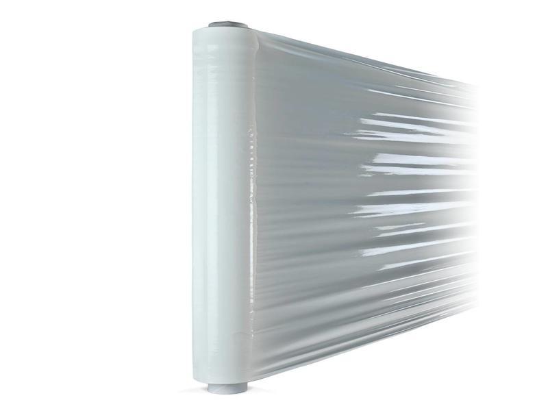6 rollen witte stretchfolie (50cm X  300 meter  X  23µ)