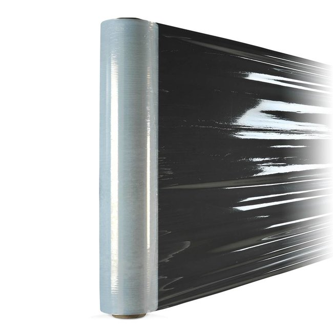 Euro-Label 6 rollen transparante stretchfolie (glad) - (50cm x 300meter x 23µ)