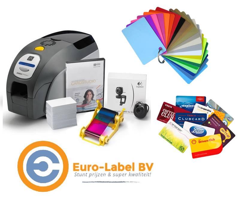 Euro-Label maakt voor veel bedrijven mooie PVC kaartjes in full colour!