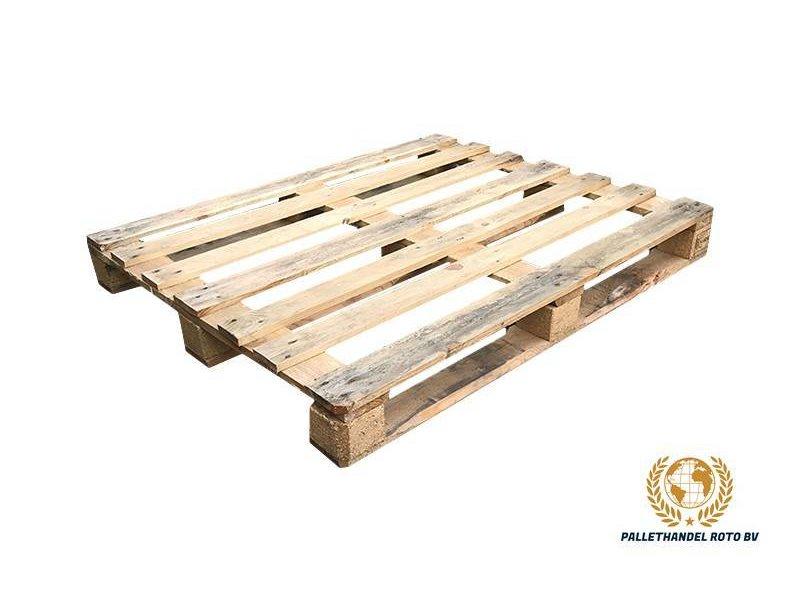 Roto-Pallets BV Blokpallet open halfzwaar 100x120cm, gebruikt