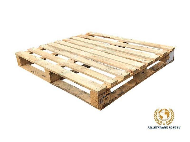 Blokpallet omlopend halfzwaar 100x120cm, gebruikt