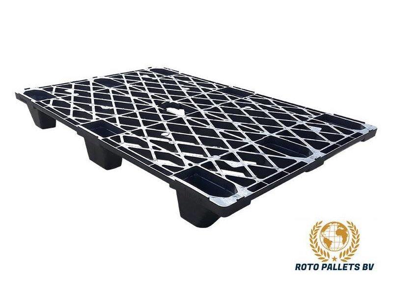 Kunststof pallet nestbaar 80x120cm, gebruikt