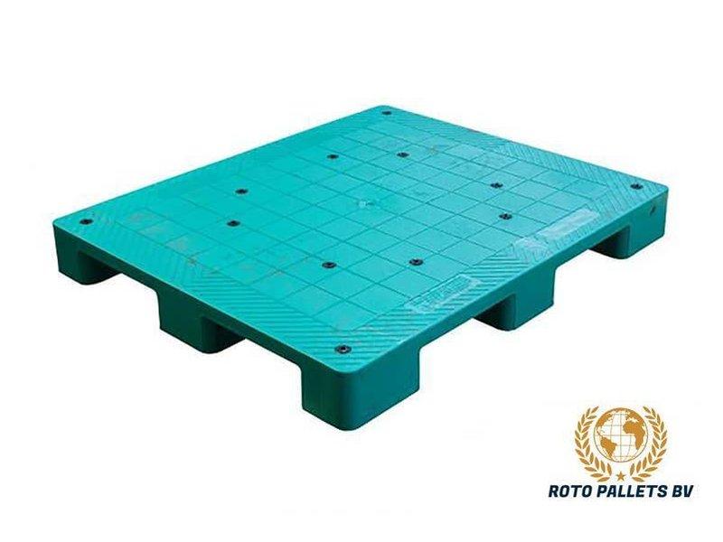 Kunststof pallet dicht bovendek halfzwaar 100x120cm, gebruikt