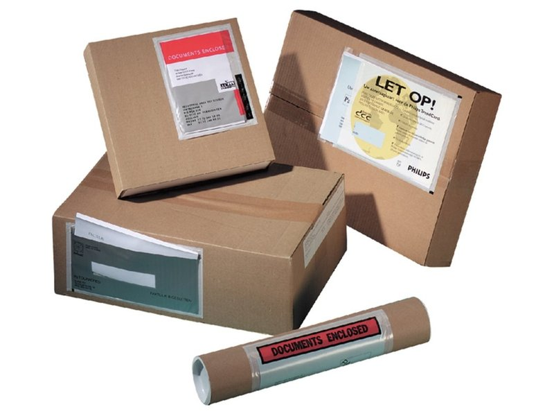 Paklijstenvelop 230x160mm blanco 250st