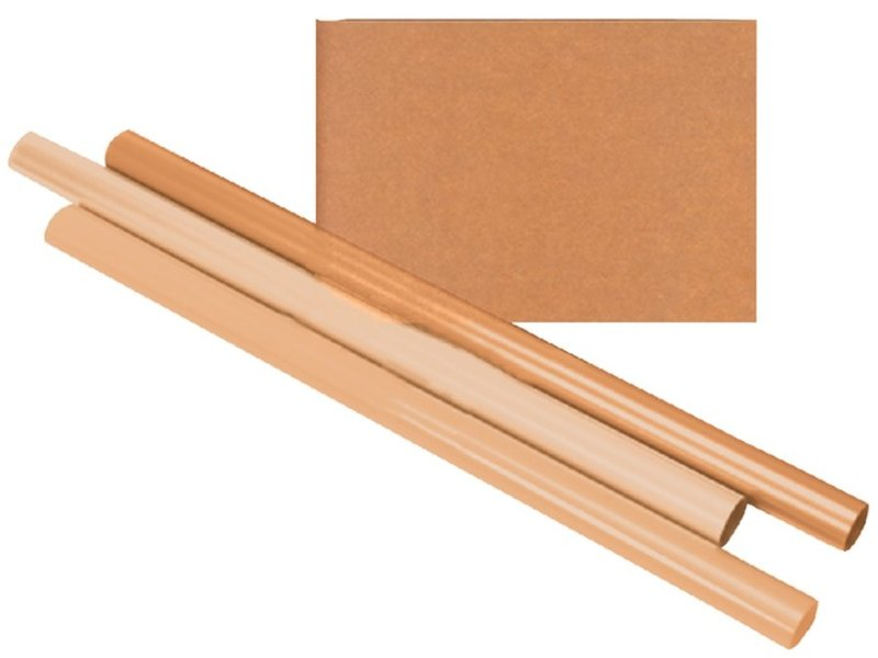 Inpakpapier haza kraft gestreept 60gr 100cmx10m