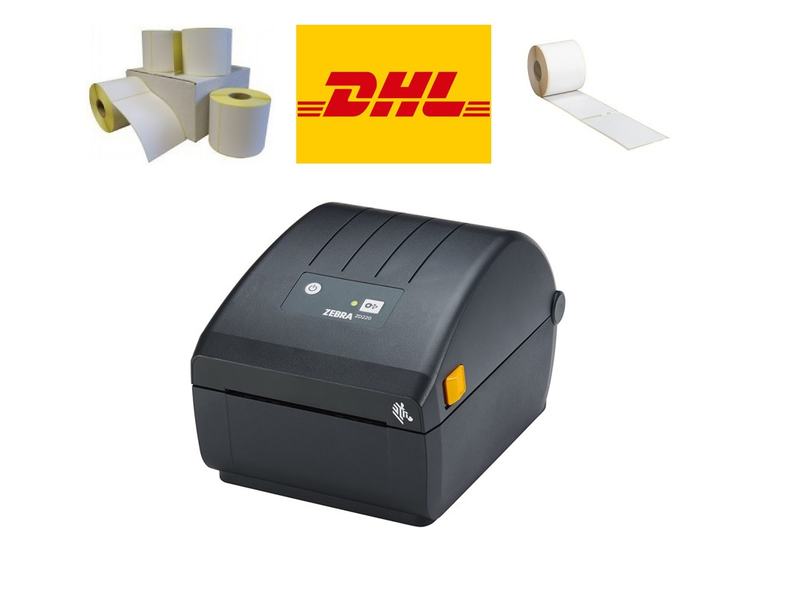 DHL Pakket - labelprinter + 1.200 DHL labels