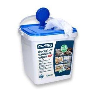 Euro-Label Desinfectie Doekjes - Bucket - 50% alcohol - 18x22,5 cm  - 375 stuks