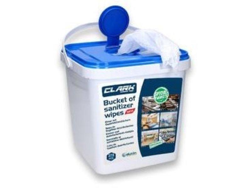 Desinfectie Doekjes - Bucket - 50% alcohol - 18x22,5 cm  - 375 stuks