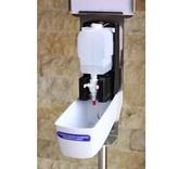 Euro-Label Hand desinfectie zuil van RVS - met Sensor (150cm)