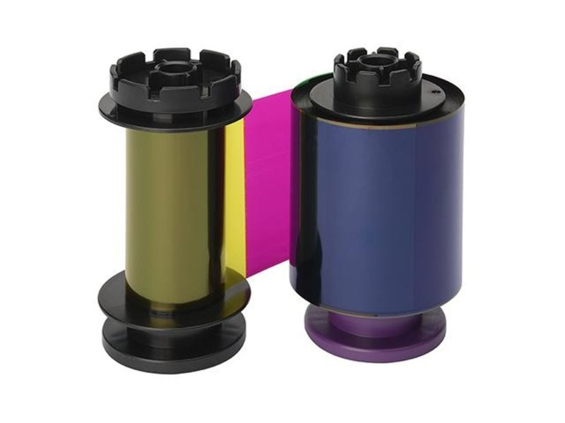 Euro-Label Evolis color ribbon (YMCK) retransfer