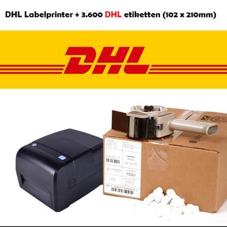 Euro-Label Labelprinter met USB + Netwerk + 3.600 DHL etiketten