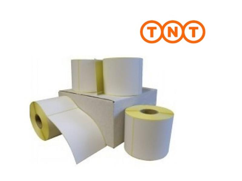 8 rollen TNT verzendetiket 102x150 mm. (kern 76 mm) 1000/rol