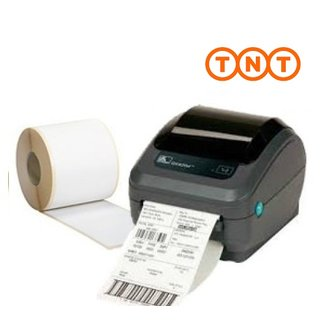 Bundelpakket - Zebra Printer + 12 rollen TNT etiketten