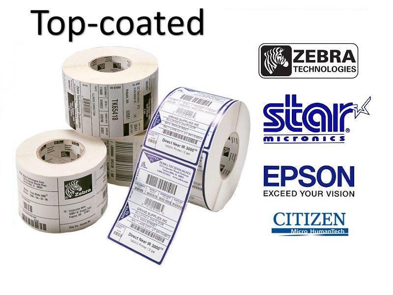Premium topcoated Direct Thermische Labels met permanente belijming