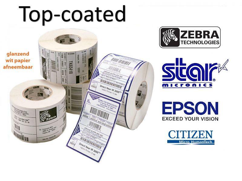Premium topcoated Direct thermische labels (verwijderbaar)