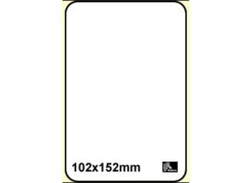 16 rollen Zebra Thermal Label - 101 x 152mm permanent - 110/rol