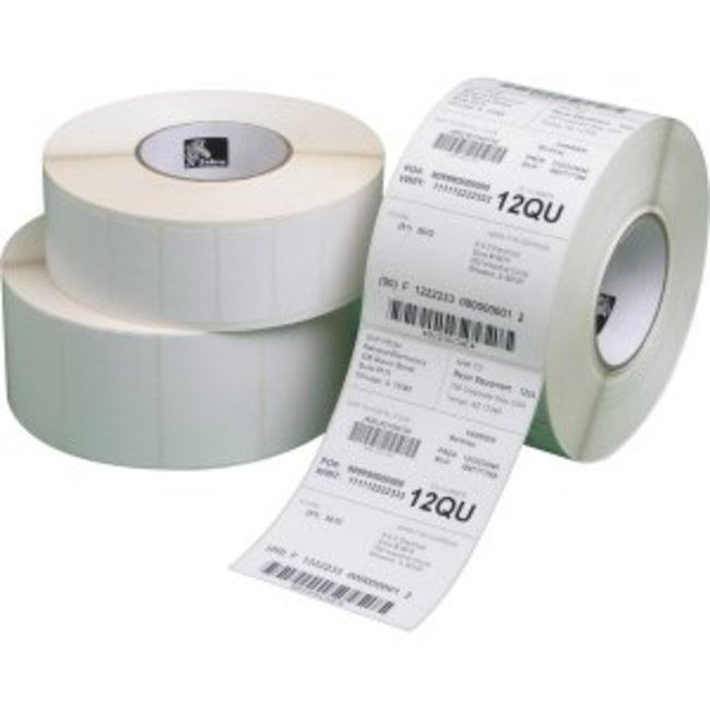 12 rollen Zebra 1000T Thermal Label - Permanent 102x64mm - 1100/rol