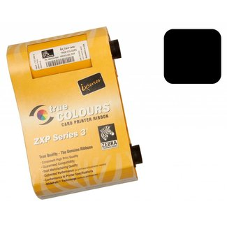 Zebra True Colours 800033-801 Ribbon Cartridge - zwart - Dye Sublimation, Thermal Transfer - 1000 Card