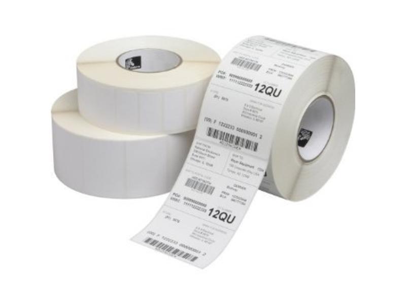 Zebra Z-Select 2000D - Permanente lijmlaag - 57x31mm - 2100/Rol - Rechthoek - Direct Thermal - Wit - 12/Doos