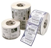 4 x Zebra Z-Select - Permanente lijmlaag - 102x76mm - 2238/Rol - Rechthoek - 76mm Kern - Thermal Transfer - Wit - Papier - 4 rollen per doos