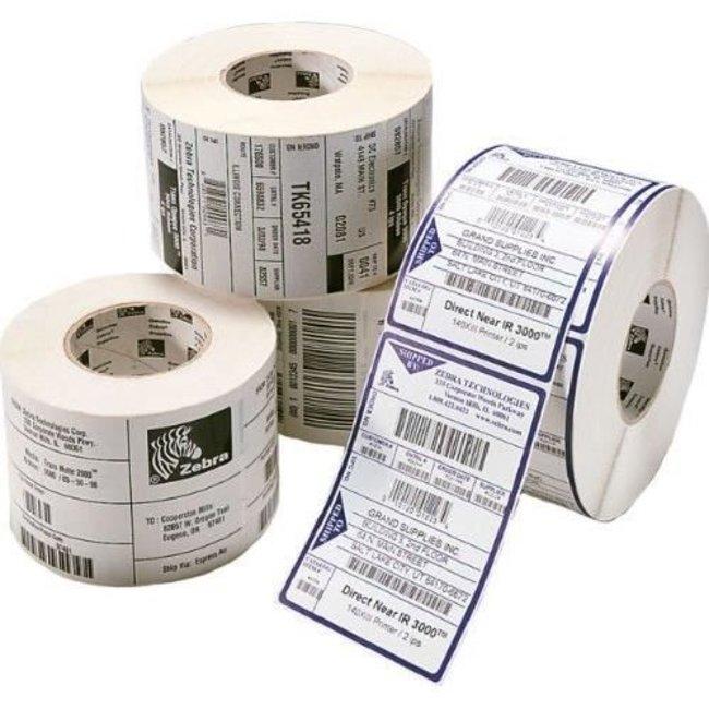 4 x Zebra Z-Select - Permanente lijmlaag - 102x76mm - 2238/Rol - Rechthoek - 76mm Kern - Thermal Transfer - Wit - Papier - 4 rollen per doos