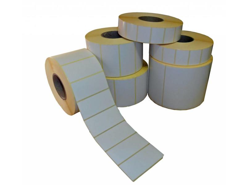 12 rollen van 2400 labels - Vellum - 50x30mm
