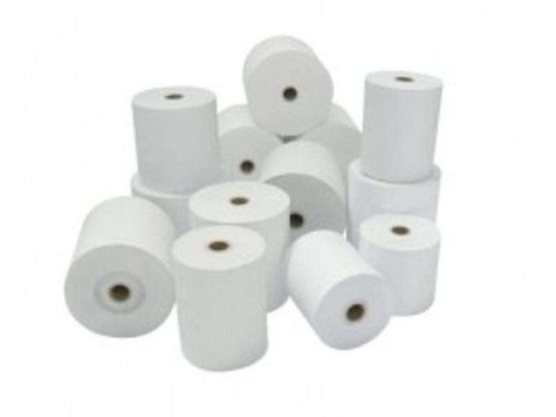bonrol, normaal papier (kopie), 76mm, wit, geel