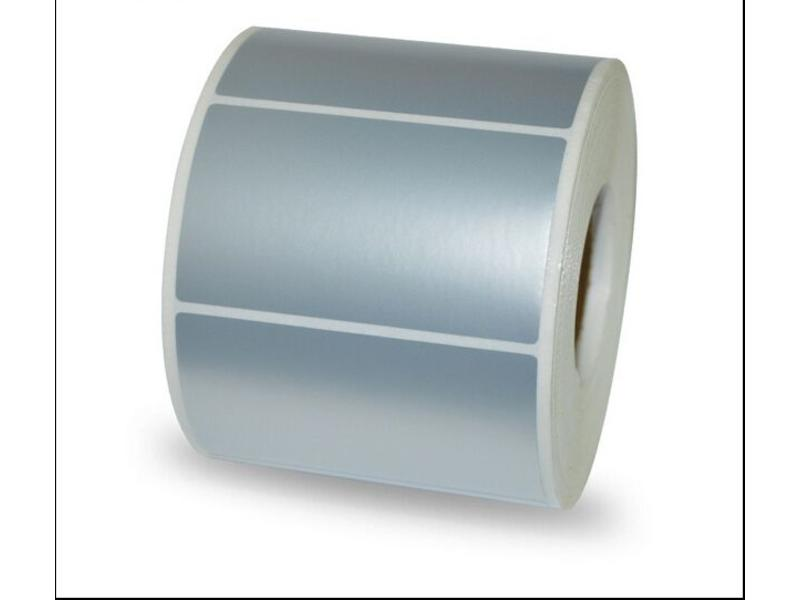 Mat Zilveren labels - 70x30mm - 2400/rol - kern 25mm