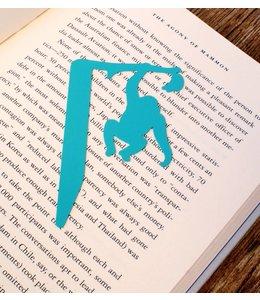 Bookmark - chimpansee geel/blauw