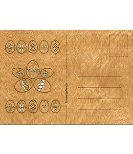 Cederhout kaart - paaseieren