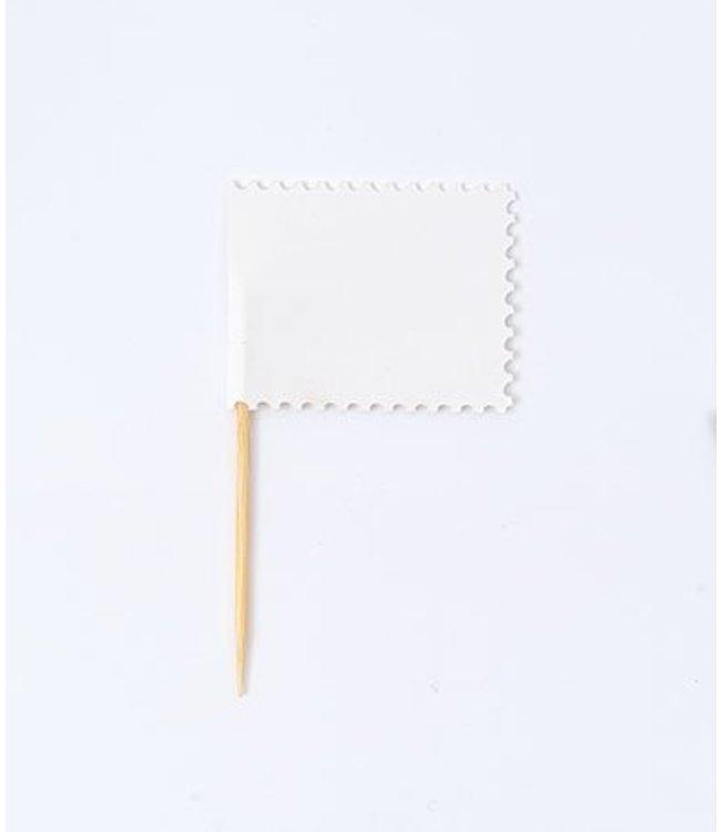 Rico Design Vlaggenprikkers - wit