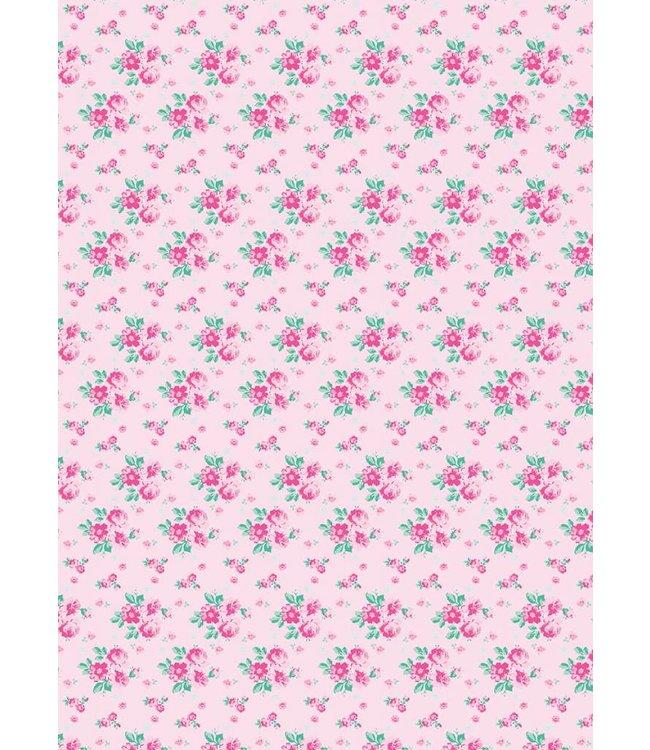Rico Design Decoupage papier - roze bloem