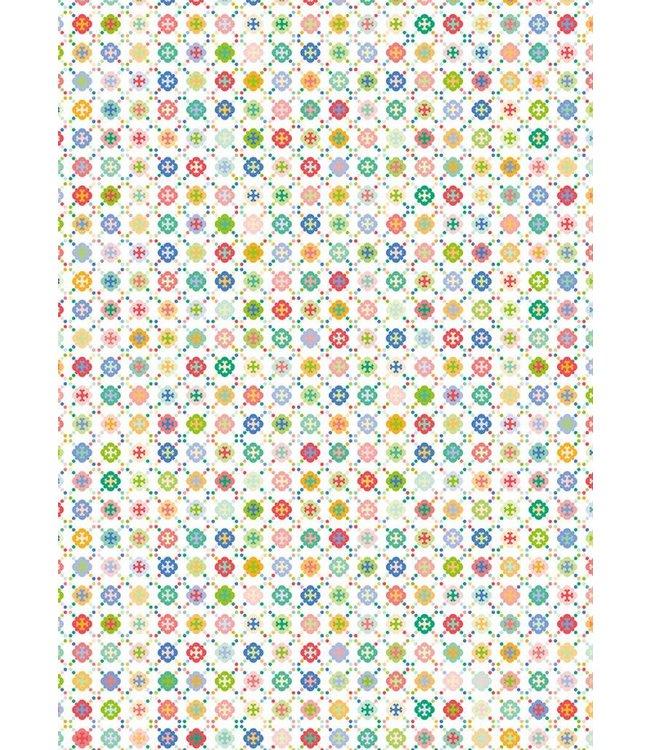 Rico Design Decoupage papier - multicolour cirkels