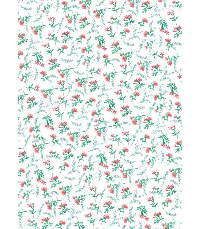 Rico Design Decoupage papier - wit bloem
