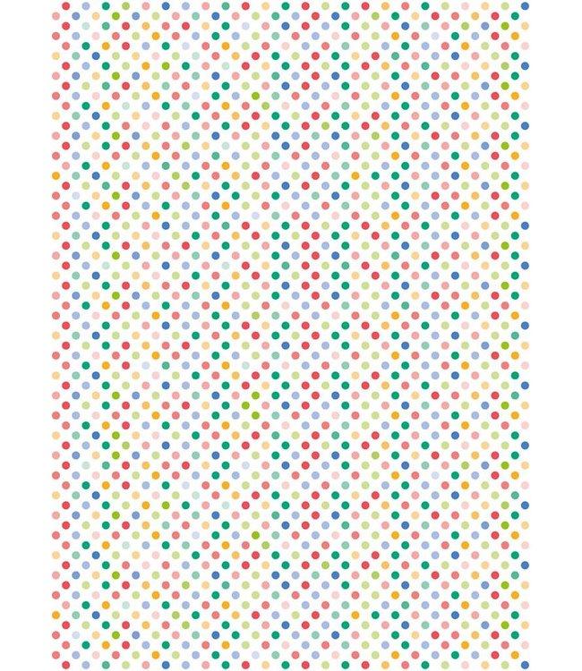 Rico Design Decoupage papier - multicolour bolletjes