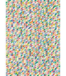 Rico Design Decoupage papier - multicolour driehoeken