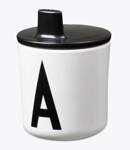 Design Letters Deksel voor kinderbeker - zwart