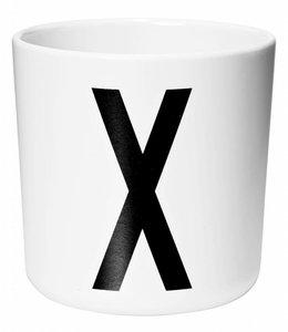 Design Letters Melamine beker - X