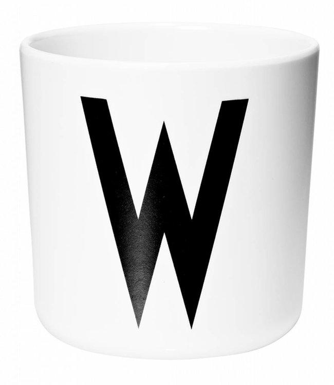 Design Letters Melamine beker - W