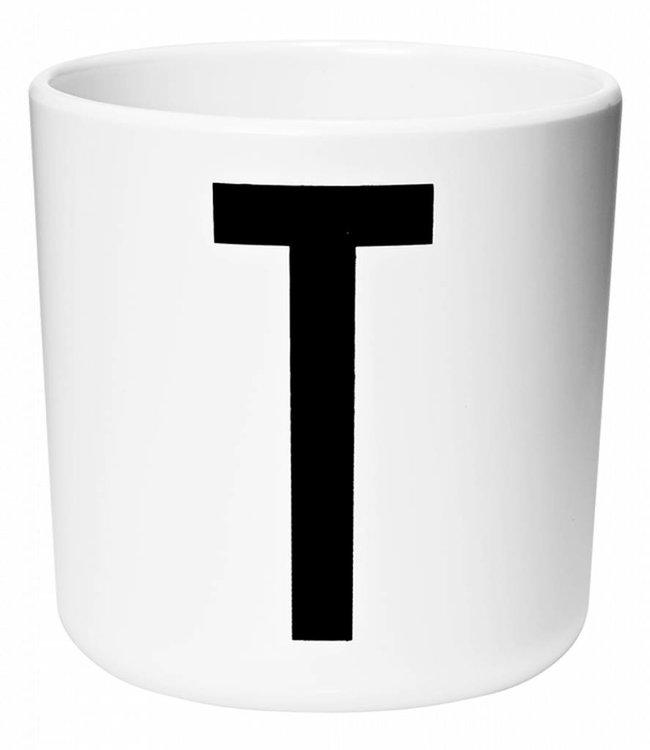 Design Letters Melamine beker - T