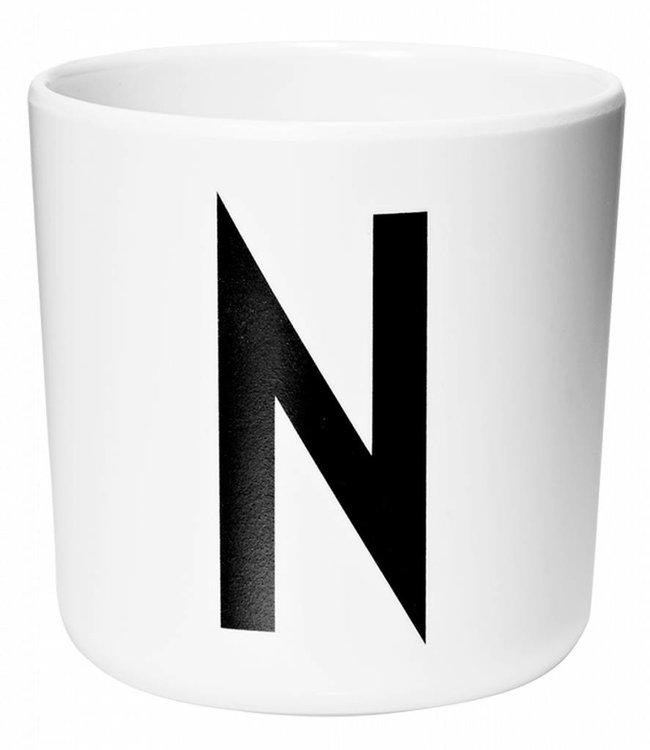Design Letters Melamine beker - N
