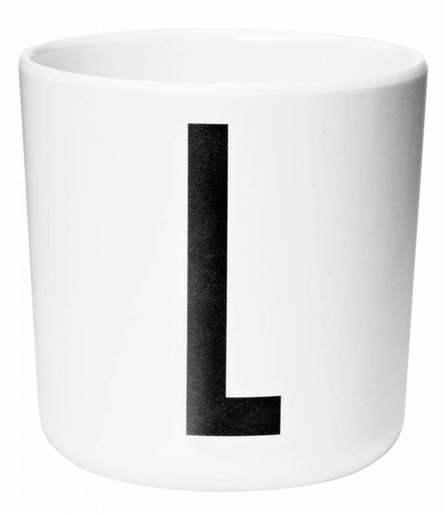 Design Letters Melamine beker - L