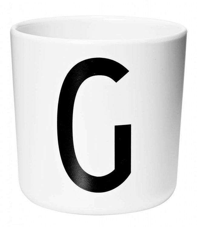 Design Letters Melamine beker - G
