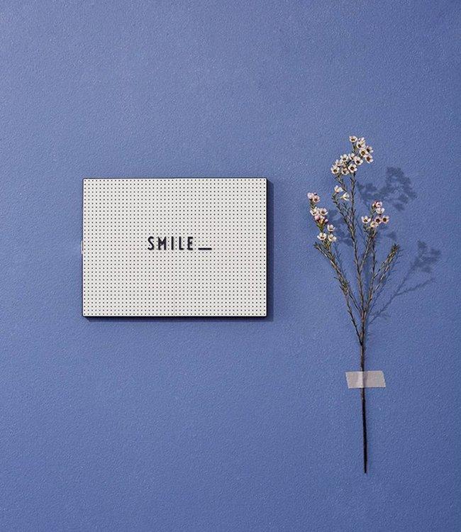 Design Letters Letterbord licht grijs 29,7x21 cm